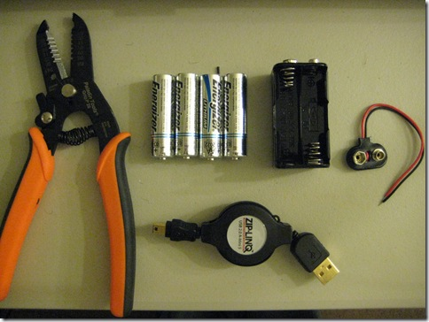 Supplies_for_Building_AA_USB_Battery_Pack
