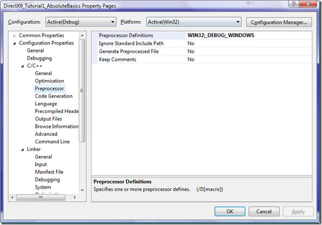 directx_tutorial_1_cpp_preprocessor_directives