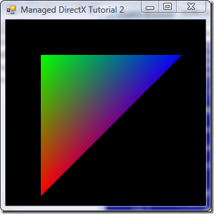 Managed DirectX C# Graphics Tutorial 2: Drawing a Triangle